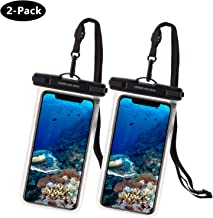 UNBREAKcable Universal Waterproof Case 2 Pack - IPX8 Waterproof Phone Pouch Dry Bag for iPhone Xs Max XR XS X 8 7 6s 6 Plus, Samsung S10+ S10 S10e S9 S8, Huawei P30 Pro, Mate 20 Pro, Up to 6.6 inch