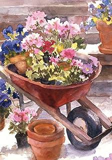 "Toland Home Garden 107213 Red Wheelbarrow 28 x 40 Inch Decorative, House Flag-28"" x40"""