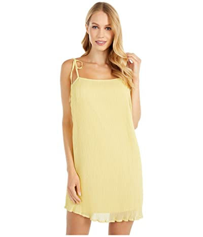 BCBGeneration Cocktail Pleated Strap Dress TGR6278149 (Citrus Yellow) Women