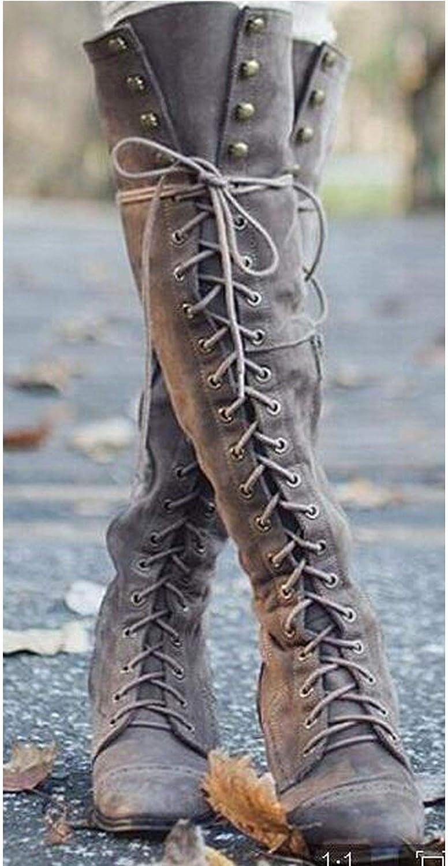 Summer-lavender Over Knee-High Boots Women Flats shoes Woman Low Heel Rubber Flock Long Boots Winter Thigh High Boots