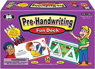 Super Duper Publications Pre-Handwriting Fine Motor Activities Fun Deck Flash Cards Educational Learning Resource for Children