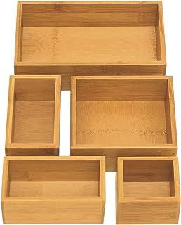 جعبه ذخیره سازی جعبه بامبو Sevilla کلاسیک 5 عدد مجموعه ای برگزار کننده