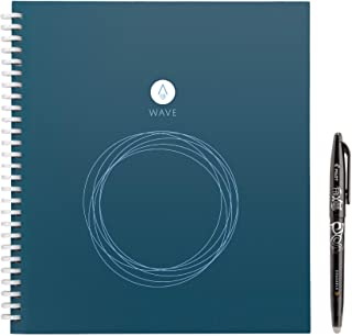 Rocketbook Wave - Taccuino Digitale, 80 Pagine, Quaderno, Riutilizzabile, Copertina Rigida, Smart Notebook con Penna Pilot...