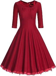 فستان MUXXN نسائي 1950s كلاسيكي 3/4 كم متأرجحة روكابيلي