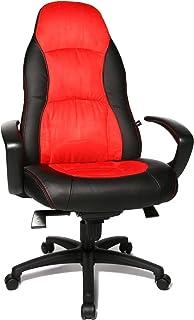 Topstar SC20FTC1 - Silla de Escritorio para ejecutivos con reposabrazos, Color Rojo y Negro