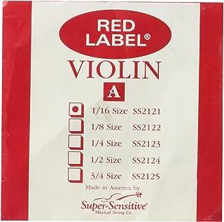 Super Sensitive 2121 Red Label A String - Nickel - Violin - 1/16 - Orchestra Gauge