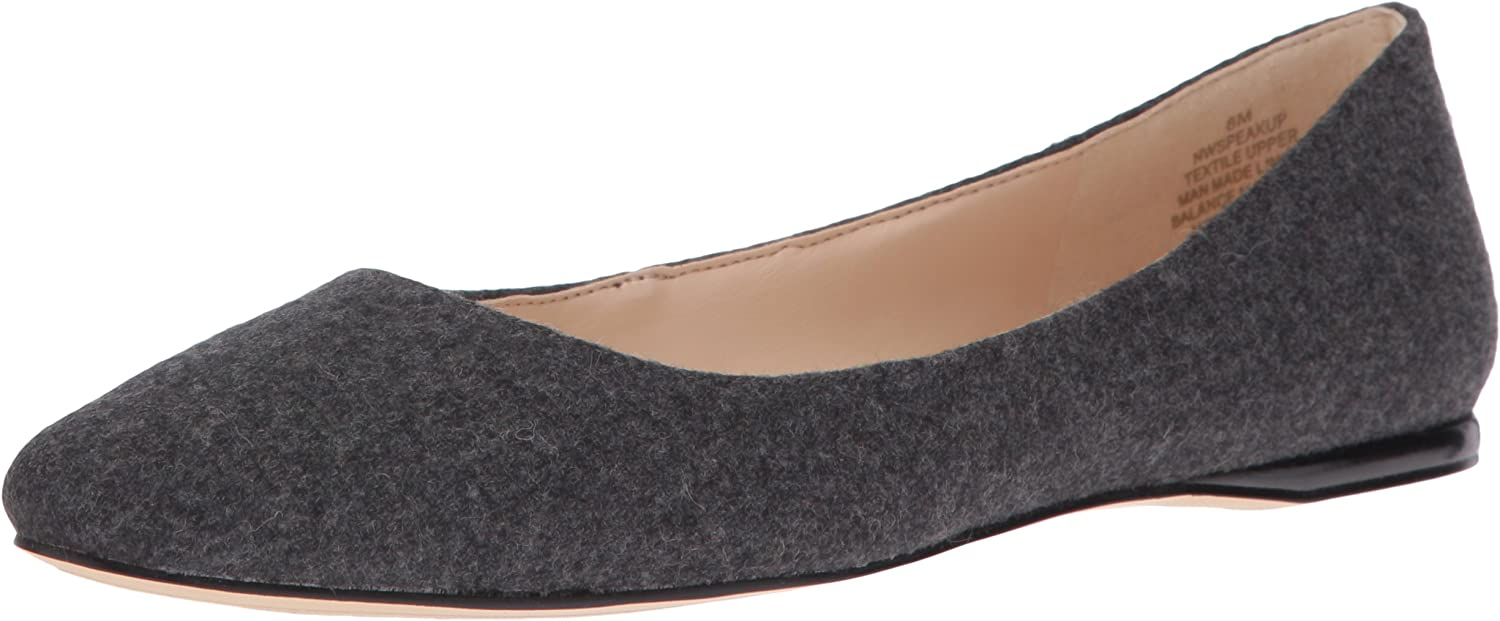 Nine West Women's Speakup Fabric Pointed Toe Flat