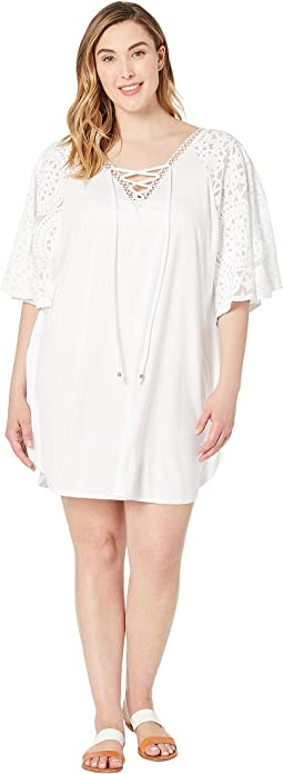 Plus Size Marrekesh Medallion Caftan Cover-Up