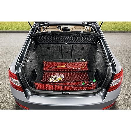 Skoda 5e0017700 Gepäcknetz Gepäckraumnetz Ladungssicherung Ladenetz 3 Teilig Rot Auto