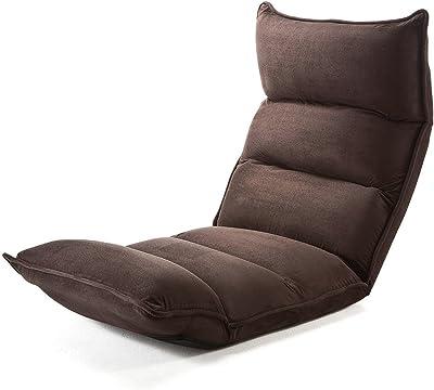サンワダイレクト 座椅子 42段階リクライニング 低反発ウレタン ハイバック マイクロファイバー ダークブラウン 150-SNCF001DBR