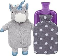 بطری آب داغ بطری کریستال کریستال کریستال با پوشش نعنا یکنواخت و پوشش پشم گوسفندها (خاکستری تک شاخ + خاکستری پولکا نقطه / بنفش)