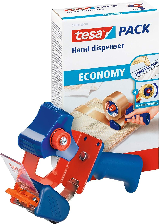 Tesa Packband Handabroller Economy Robuster Abroller Für Paketbänder Profi Qualität Für Klebebänder Mit Bis Zu 50 Cm Breite Bürobedarf Schreibwaren