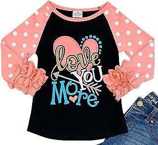 BluNight Collection Little Girls Kids Saint Patrick Valentines Day Holiday Shirt Top Tee T-Shirt