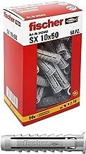 Fischer 542442 deuvelcilinder, grijs, 10 x 50 mm, Set van 50)