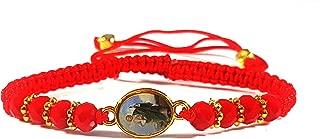 Red String Saint Jude Red Beads Bracelets/Pulsera de Hilo Rojo San Judas Tadeo con Piedras Rojas