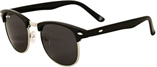 Royal Son UV Protected Clubmaster Sunglasses For Men And Women (WHAT1555|51|Black)
