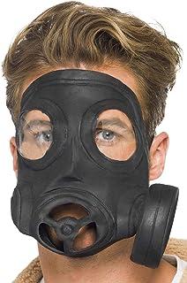 Smiffys Máscara de Gas, Negra, Latex