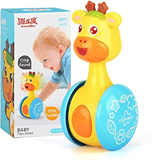 PinShang Cartoon Giraffe Tumbler Doll Roly-poly Baby Toys Cute Rattles Ring Bell Newborns 3-12 Month Early Educational Toy