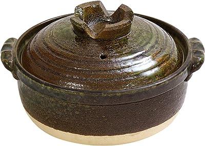 マルヨシ陶器(Maruyoshitouki) 土鍋 鉄釉 7号 IH M3921
