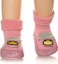 Baby Boys Girls Toddlers Moccasins Cute Animal Non-Skid Indoor Kids Floor Slippers Warm Winter Shoes Socks