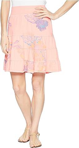 Summer Floral Jersey Skirt