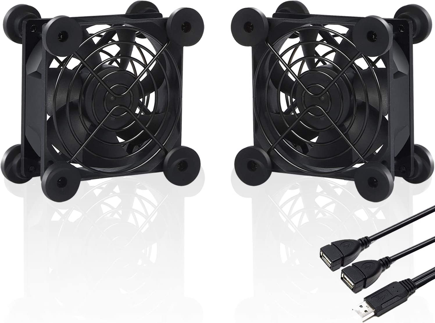 upHere U803 USB Fan Dual-Ball Bearings Silent 80mm Fan for Computer Cases Computer Cabinet Playstation Xbox Cooling