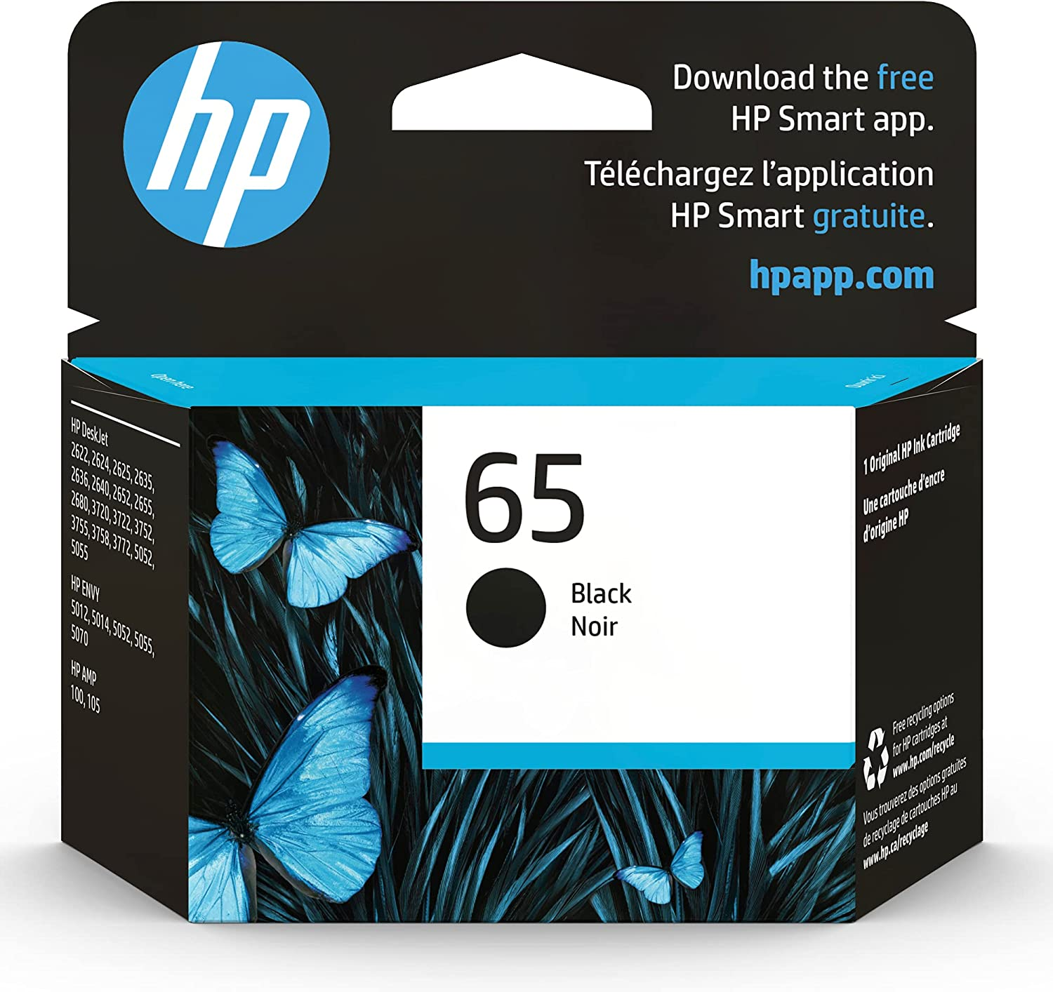 Original HP 65 Black Ink Cartridge Works 100 with Serie Oakland Mall AMP Max 82% OFF