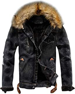 Best black denim jacket with black fur collar Reviews