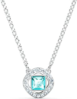 Swarovski Collier Angelic Square, Métal Rhodié, Amazon Exclusivités