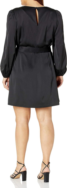The Drop Women's @shopdandy Belted Silky Stretch Dress