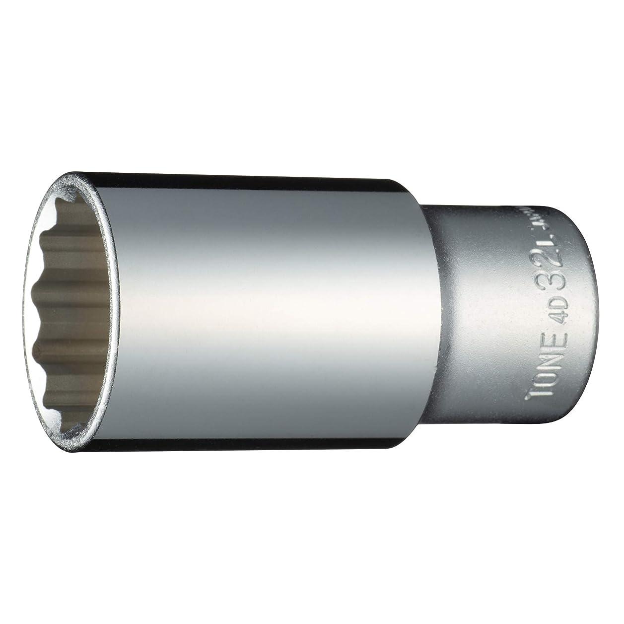 ジャーナリストフェンス書くトネ(TONE) ディープソケット(12角) 差込角12.7mm(1/2