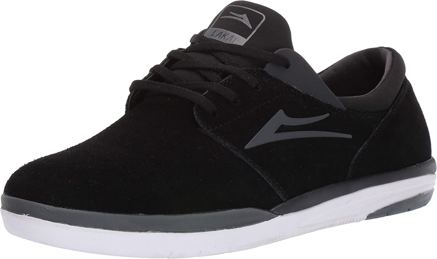 Lakai Footwear Fremont Black Charcoal Suedesize Tennis shoes, Black Charcoal Suede