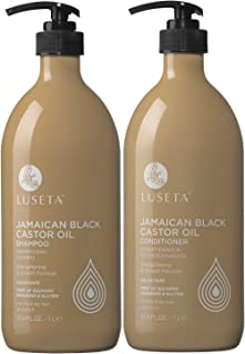 Luseta Jamaican Black Castor Oil Shampoo and Conditioner Set for Fine and Dry Hair, 2x33.8oz