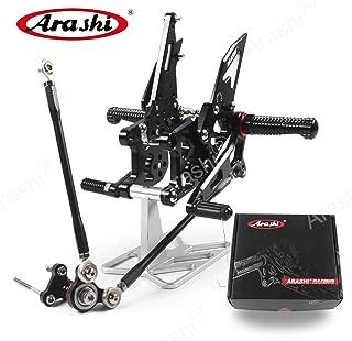 Arashi (Version 2.0) Rearsets for Honda CBR600RR 2007 2008 Motorcycle Accessories Adjustable Footrests Foot Peg Rear Sets CBR 600 CBR600 RR 600RR Black 07 08