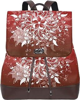 FAJRO Mochila de Piel con diseño de Flores en Espiral