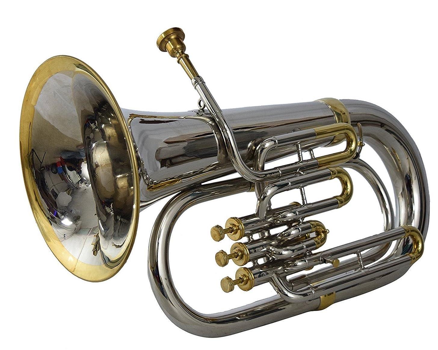 Quality Euphonium 3V 2 Tone 100% Brass made Bb FLAT