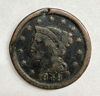 1848 Large Cent 1C Very Good+