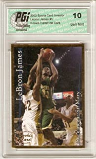 LeBron James 2002 SCI Gold Foil Rookie Card PGI 10 His 1st Card Ever Made