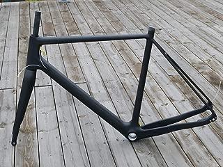 cover99 Full Carbon Toray Matt Cyclocross Bike Frameset Disc Brake BB30 Frame 49cm 12 142mm Thru Axle + Bicycle Fork 15 100mm Thru Axle