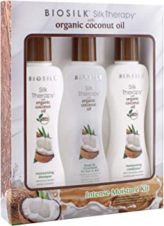 Biosilk Silk Therapy with Organic Coconut Oil Intense Moisture Kit, 5.64 fl. oz.