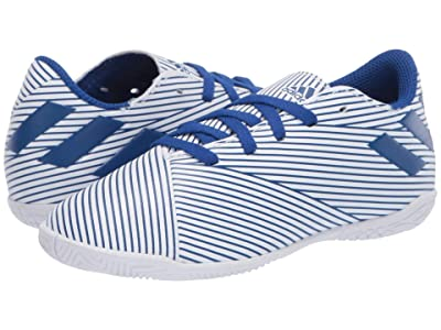 adidas Kids Nemeziz 19.4 IN J Soccer (Little Kid/Big Kid) (White/Team Royal/Black) Kids Shoes