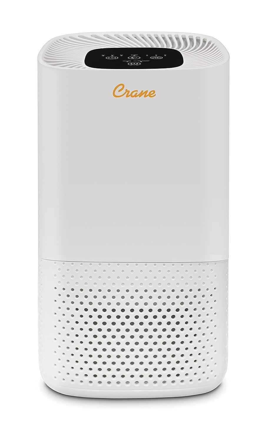 Crane Tower Air Purifier with True HEPA Filter, Standard, White