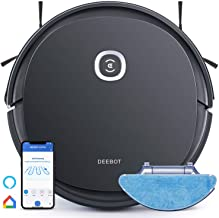 Ecovacs Deebot OZMO U2 Pro Robot Vacuum Cleaner 2in1 Vacuum and Mop, Extra Pet Care Kit 800ml Large Dustbin & Tangle-Free ...