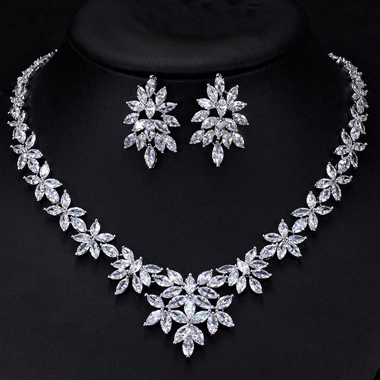SYXMSM Jewellery Limited time for free shipping Set Ranking TOP5 Flower Women Wedding Zirconia Cubic Crystal