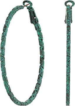 M&F Western Large Hoop Patina Hoops Earrings