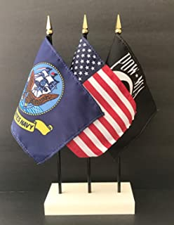 Made in The USA. 1 American, 1 US Navy Military Service and 1 POW/MIA 4