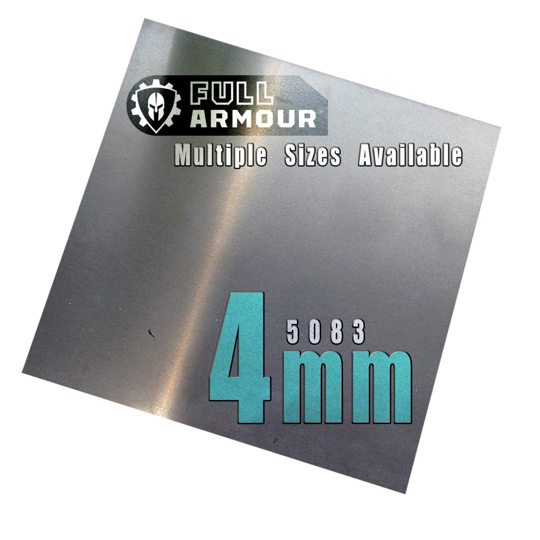 Placa de aluminio de 4 mm, grado 5083, 200mm x 200mm, 1