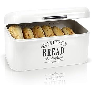 Granrosi Retro Brotkasten - Kompakte Brotbox hält Brot und Brötchen länger frisch und ist EIN Hingucker in jeder Küche
