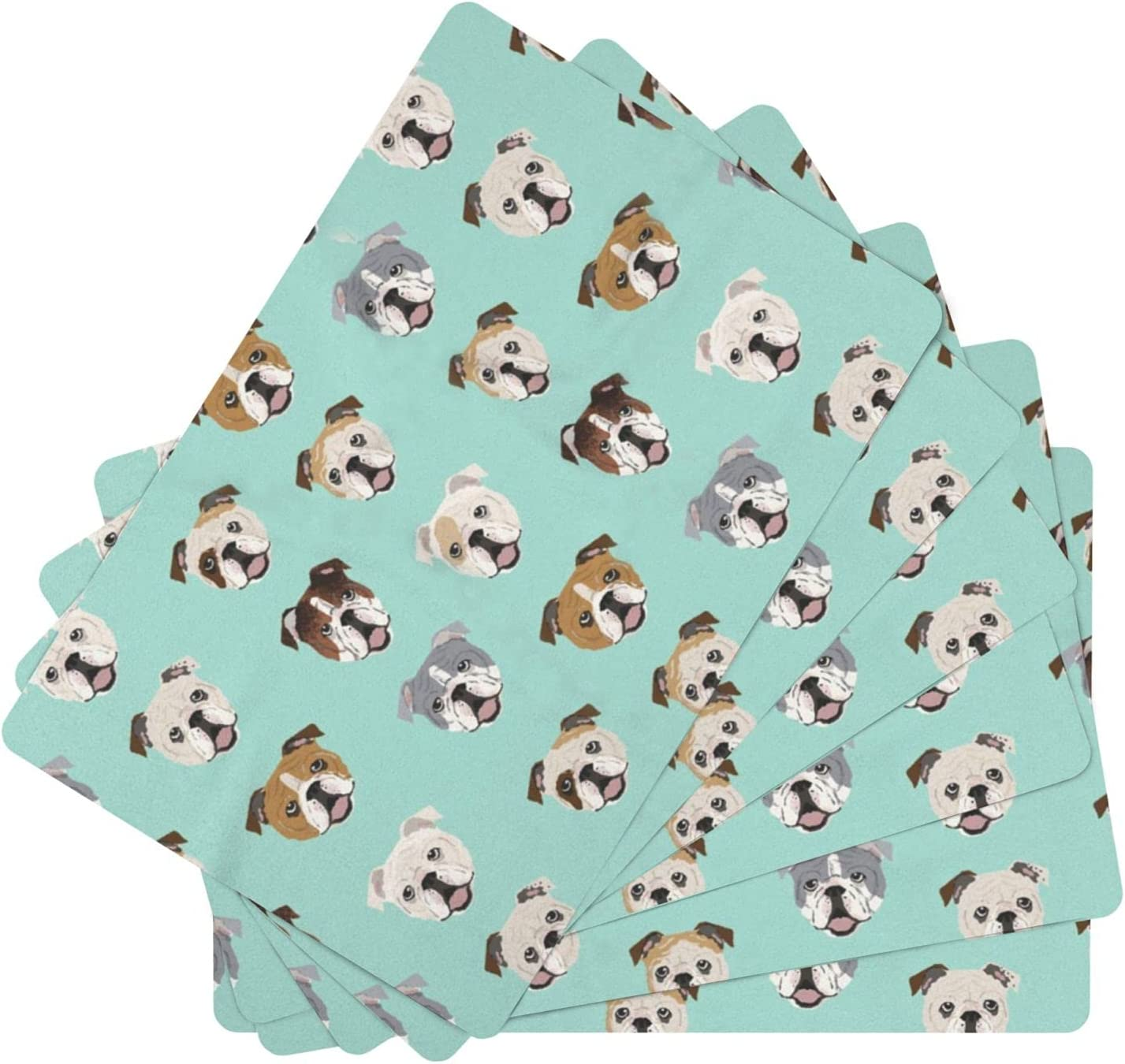 English In stock Bulldog Leather Place Mats for of 67% OFF of fixed price Table 6 Was Dining Set