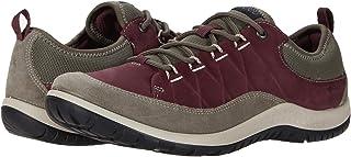 ECCO Women's Aspina Low Hydromax Hiking Shoe, WARM GREY/WINE, 9 M US